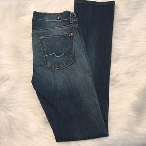 7 For All Mankind Straight Leg Jeans Sz 24